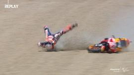 VIDEO: Detik-detik Marquez Kecelakaan di MotoGP Spanyol