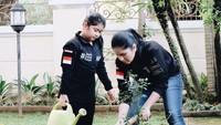 <p>Pekarangan di depan rumah juga terlihat luas dan hijau dengan rumput dan beberapa tanaman. Annisa dan Almira sampai bisa berkebun nih di pekarangan mereka. (Foto: Instagram @annisayudhoyono)</p>