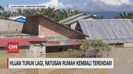 VIDEO: Hujan Lagi, Banjir Kembali Rendam Masamba Luwu Utara