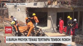 VIDEO: 4 Buruh Proyek di Semarang Tewas Tertimpa Tembok Roboh