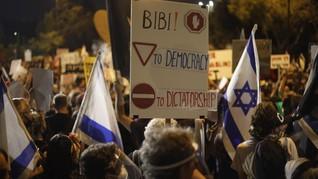 Ribuan Warga Israel Desak PM Netanyahu Mundur