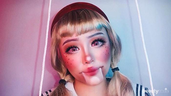 Cerita Seram di Balik Makeup Doll Challenge ala Janine Intansari yang Viral di TikTok