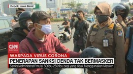 VIDEO: Pemkot Depok Denda Warga yang Tidak Pakai Masker