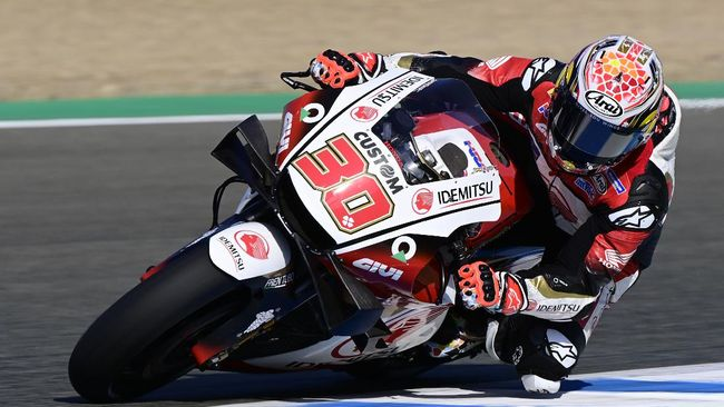 Pembalap LCR Honda Takaaki Nakagami mampu menguasai latihan bebas kedua (FP2) MotoGP Andalusia 2020, sementara Valentino Rossi di urutan ke-8.