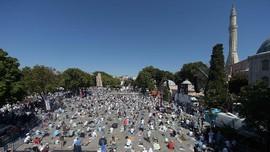 Erdogan dan Ribuan Jemaah Hadiri Salat Jumat di Hagia Sophia