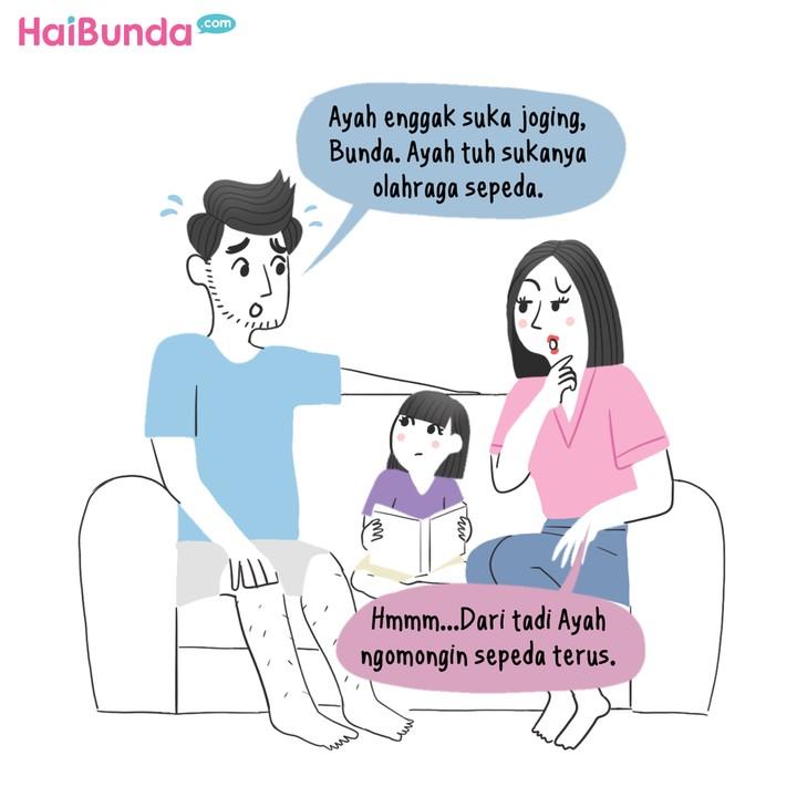 Komik HaiBunda Sepeda