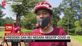 VIDEO: Presiden dan Ibu Negara Negatif Covid-19