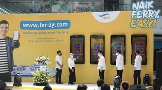 3 Menteri Resmikan Pembelian Tiket Ferry Online Ferizy