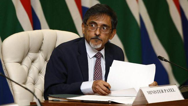 Menteri Perdagangan Afrika Selatan Ebrahim Patel pada Sabtu (25/7) dinyatakan positif Covid-19.