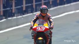 VIDEO: Detik-detik Marquez Menyerah di MotoGP Andalusia