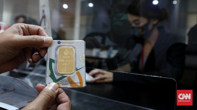 Harga emas Antam melesat Rp10 ribu ke level Rp947 ribu pada Selasa (18/5).