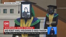 VIDEO: Gelar Wisuda, Undip Pakai Robot untuk Wakili Wisudawan