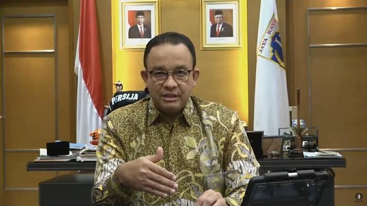 Gubernur DKI Jakarta Anies Baswedan Mengumumkan Status PSBB Transisi Jakarta (Tangkapan Layar Youtube Pemprov DKI Jakarta)