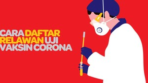 INFOGRAFIS: Cara Daftar Relawan Uji Vaksin Corona