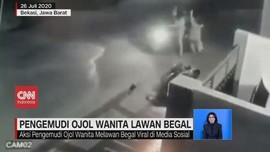 VIDEO: Pengemudi Ojol Wanita Lawan Begal di Bekasi