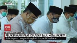 VIDEO: Gubernur Anies Salat Iduladha di Masjid Balai Kota