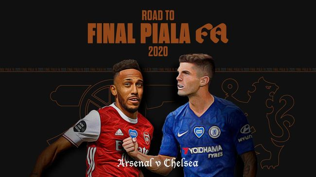 INFOGRAFIS: Road to Final Piala FA 2020 Arsenal vs Chelsea