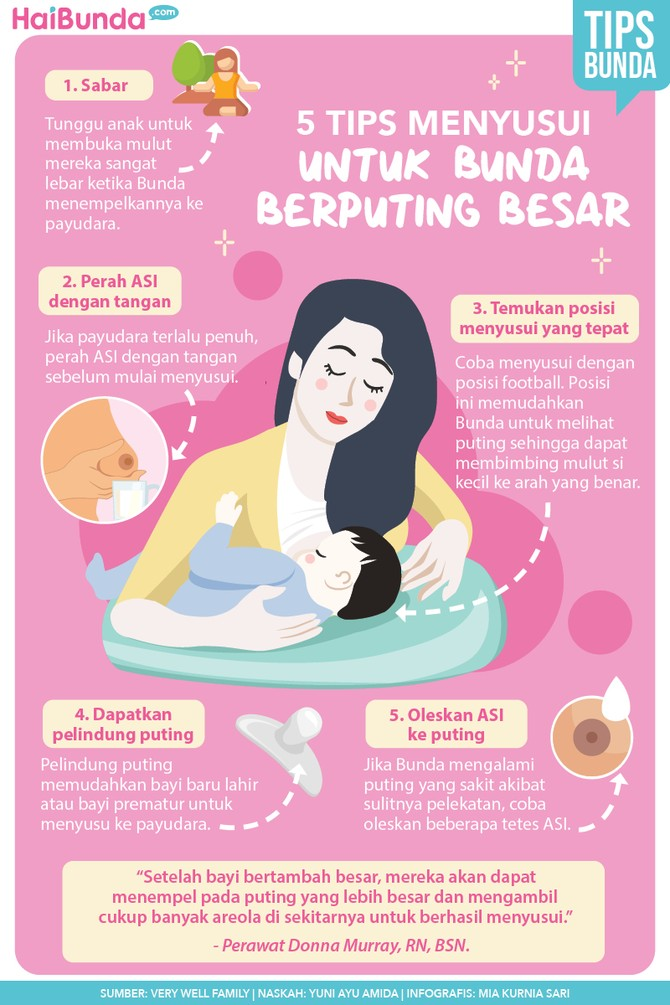 Infografis Tips Menyusui