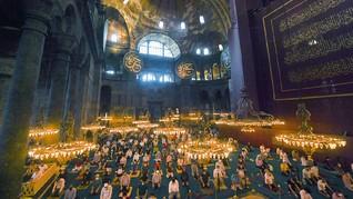 FOTO: Salat Iduladha Pertama di Hagia Sophia
