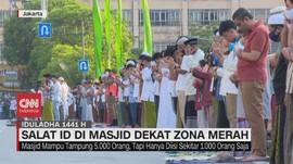 VIDEO: Salat Iduladha di Masjid Dekat Zona Merah Covid-19