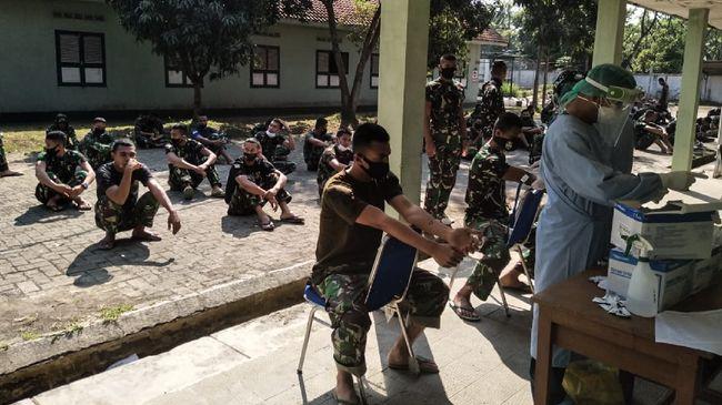 Jumlah pasien terinfeksi virus corona (dari klaster Secapa TNI AD yang dinyatakan sembuh per Minggu (9/8) bertambah menjadi 4 orang.
