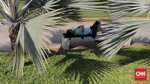FOTO: Kembali Dibuka, Warga Beraktivitas di Lapangan Banteng