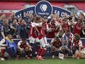 Kronologi Aubameyang Jatuhkan dan Rusak Trofi Piala FA