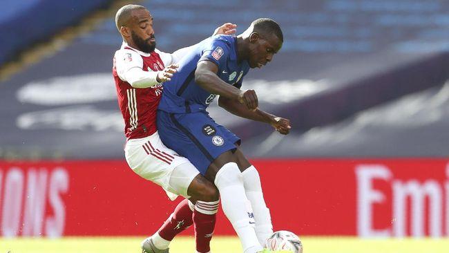 Arsenal dan Chelsea bermain imbang di babak pertama final Piala FA.