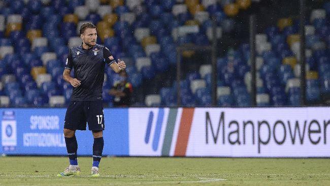 Penyerang Lazio, Ciro Immobile resmi menjadi top skor Liga Italia sekaligus merebut Sepatu Emas Eropa musim ini.