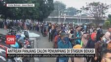 VIDEO: Antrean Panjang Calon Penumpang KRL di Stasiun Bekasi