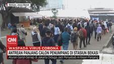 VIDEO: Antrean Panjangan Calon Penumpang di Stasiun Bekasi