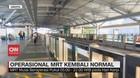 VIDEO: Operasional MRT Jakarta Kembali Normal