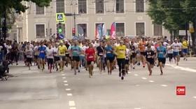 VIDEO: 25 Ribu Pelari Ikut Lomba Marathon di Masa Pandemi