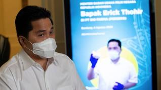 Soal Inpres Covid, Erick Sebut TNI-Polri Bukan untuk Menakuti