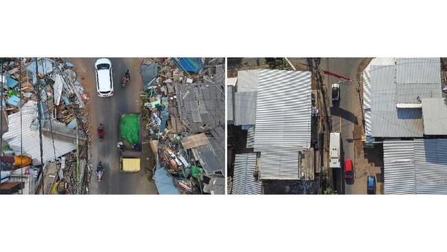 Warga Lombok, Nusa Tenggara Barat, perlahan bangkit dari puing-puing reruntuhan akibat gempa berkekuatan 7 magnitudo yang terjadi hari ini, dua tahun lalu.