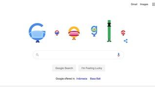 Google Doodle Hari Ini Ajak Pakai Masker dan Jaga Jarak