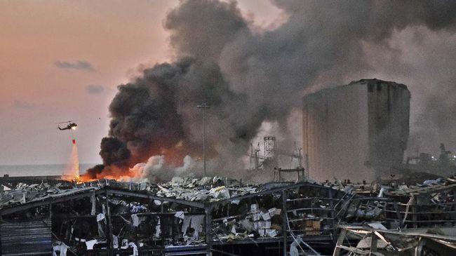 Seorang pria bernama Serge Mahdessian bercerita melarikan diri ke kamar mandi saat dua ledakan besar mengguncang Beirut, Libanon.