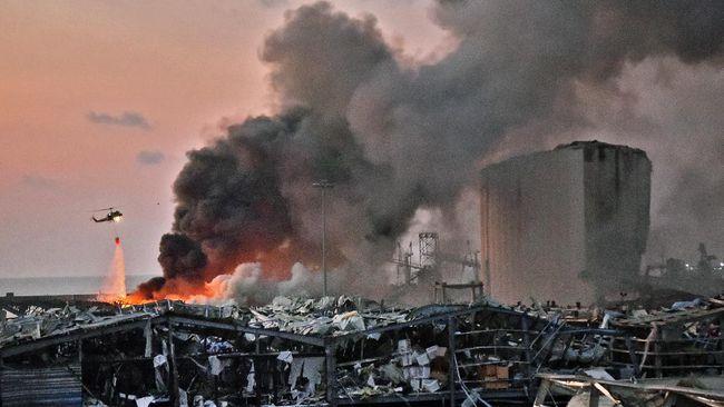 Presiden Libanon, Michel Aoun, mengatakan ledakan besar di Ibu Kota Beirut pada Selasa (4/8) berasal dari gudang menyimpan 2.750 ton amonium nitrat.