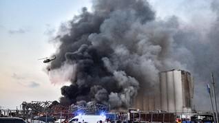 Kebakaran di Libanon Berasal dari Gudang Penyimpanan Bantuan