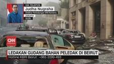 VIDEO: Ledakan Besar di Beirut Libanon Sebabkan 1 WNI Terluka