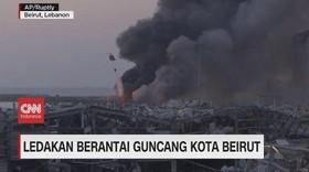 VIDEO: Ledakan Hebat Guncang Kota Beirut Lebanon