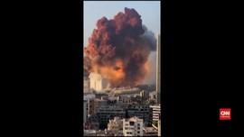 VIDEO: Detik-Detik Ledakan Dahsyat Kota Beirut Libanon