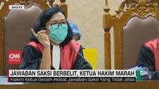 VIDEO: Saksi Berbelit, Ketua Hakim Kasus Jiwasraya Marah