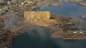 FOTO: Ledakan di Beirut Timbulkan Kawah Selebar 124 Meter