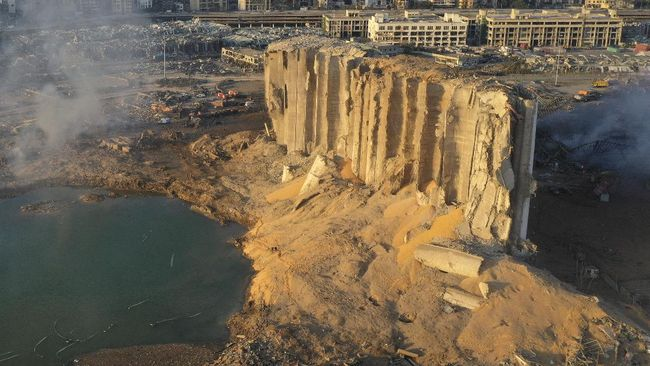 Istana Sursock yang berusia 160 tahun merupakan salah satu bangunan warisan budaya yang hancur terkena ledakan di pelabuhan Beirut, Libanon.