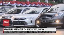 VIDEO: Ganjil Genap di DKI Jakarta Ditunda