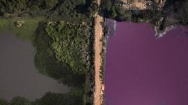 FOTO: Laguna, Danau di Paraguay yang Berubah Warna