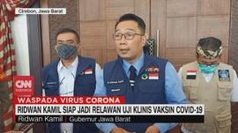 VIDEO: Ridwan Kamil Siap Jadi Relawan Uji Vaksin Covid-19