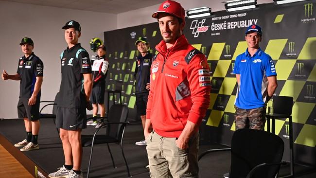 Jelang MotoGP Ceko 2020 di Sirkuit Brno, sejumlah pembalap bintang menjalani konferensi pers pada Kamis (6/8).