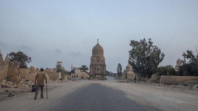 FOTO: Wajah Kota Mati Di Kairo 'Disulap' Untuk Proyek Tol